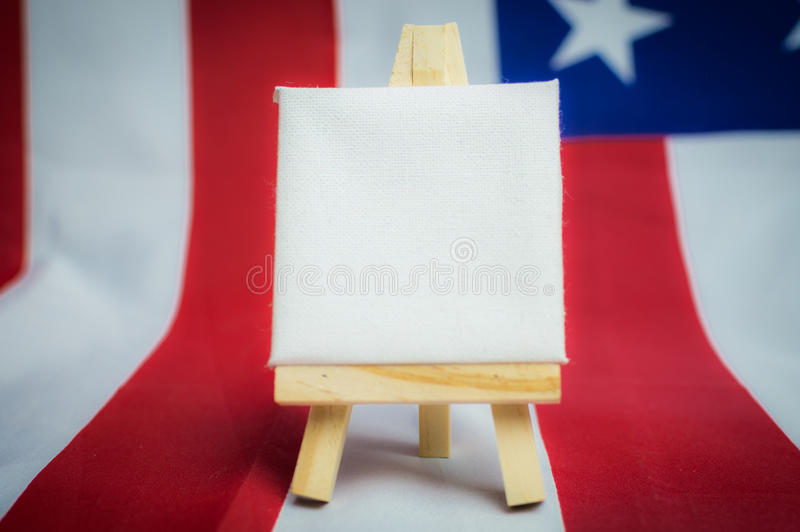 United States of America flag with empty space to write your text.  royalty free stock photo