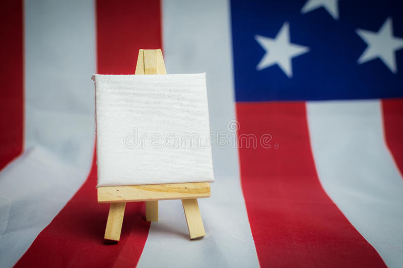 United States of America flag with empty space to write your text.  royalty free stock photography