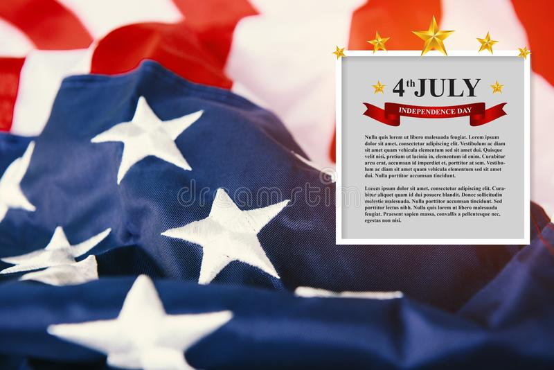 United States of America flag. Image of the usa flag Memorial Day or 4th of July royalty free stock photography
