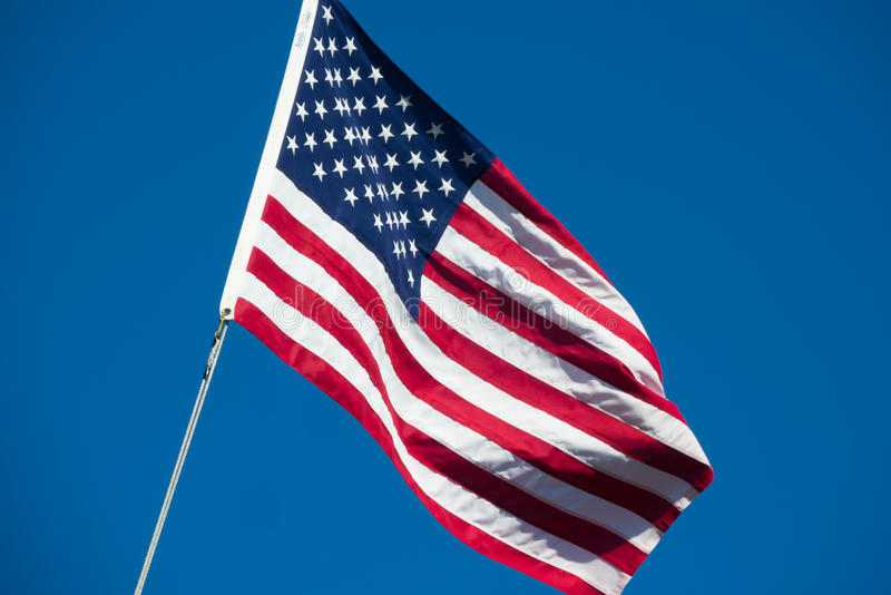 United States of America flag star spangled banner stars and stripes blue sky royalty free stock photo