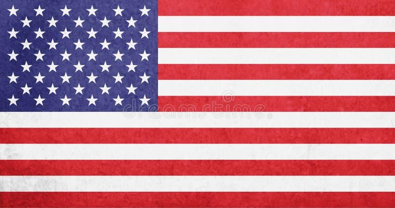 United States of America flag / vintage USA flag - American flag stock photo