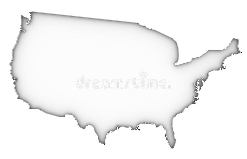 Download United States Of America Map Stock Illustration - Image: 24497710