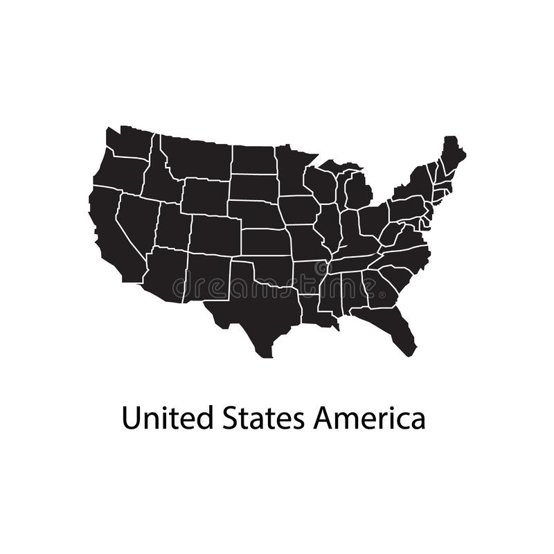 United States of America Map vector illustration