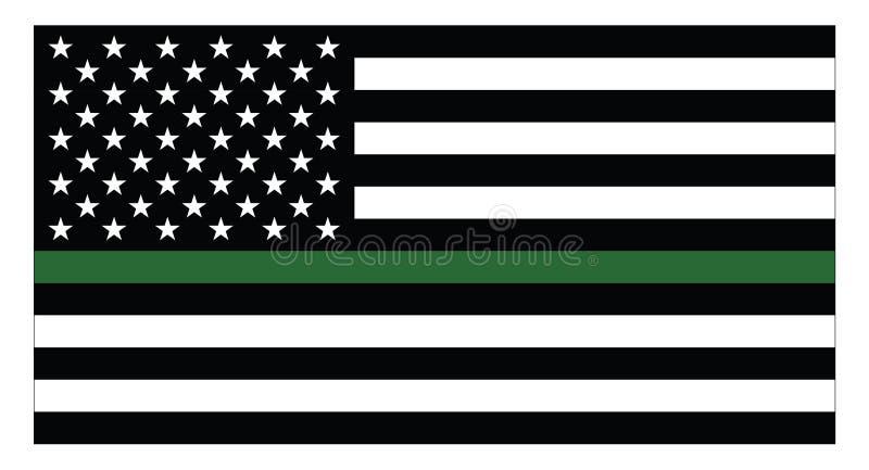 United states of America Military flag royalty free illustration