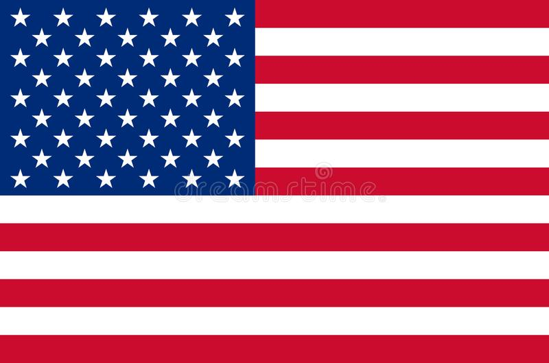 United states of america national flag in accurate colors, official flag of usa in exact colors. Real colors royalty free illustration
