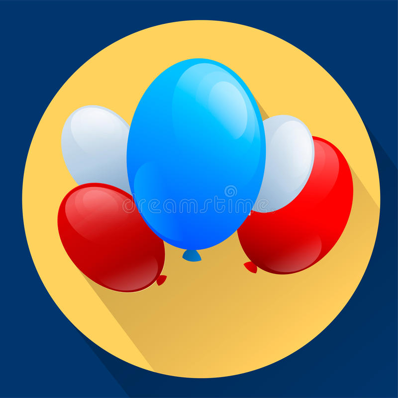 United States of America Patriotic balloons. Independence Day. National Colors. Vector stock illustration stock illustration