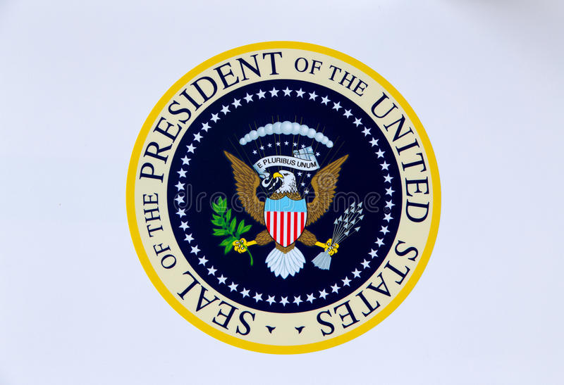 United States of America Presidential Seal royalty free stock image