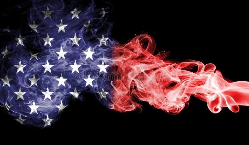 United States of America smoke flag, US flag.  stock illustration