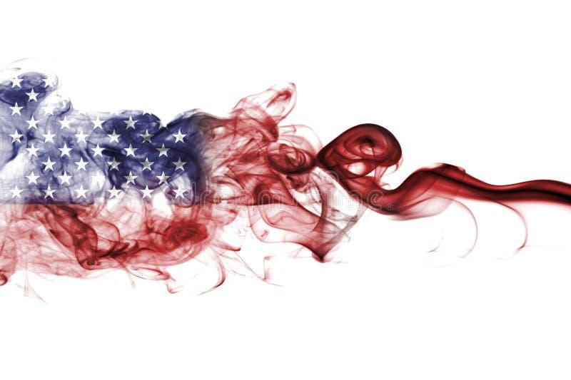 United States of America smoke flag, US flag.  vector illustration