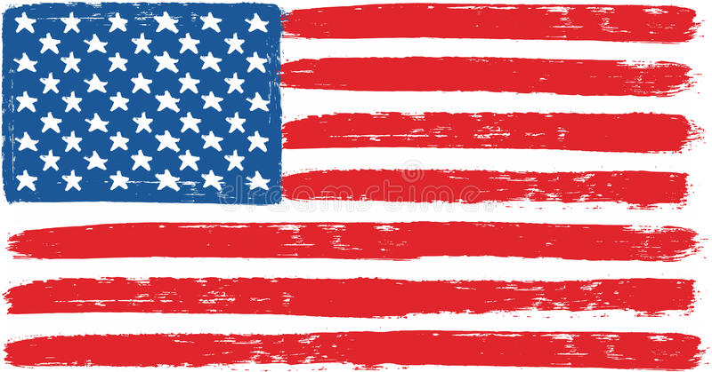 united states of america or usa flag vector hand painted with rh dreamstime com united states army flag vector united states flag vector art