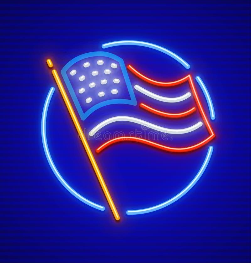 The United States of America USA national flag royalty free illustration