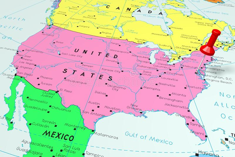 United States Of America/ USA, Washington D.C - Capital City, Pinned ...
