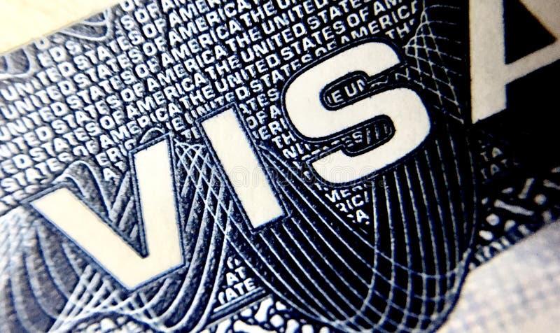United States of America visa page stock image