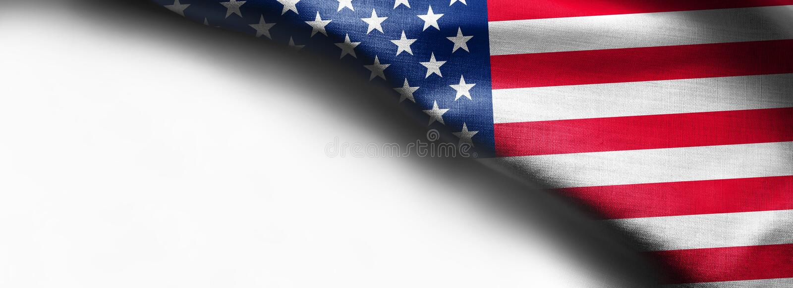 United States of American flag border isolated on white background royalty free stock images