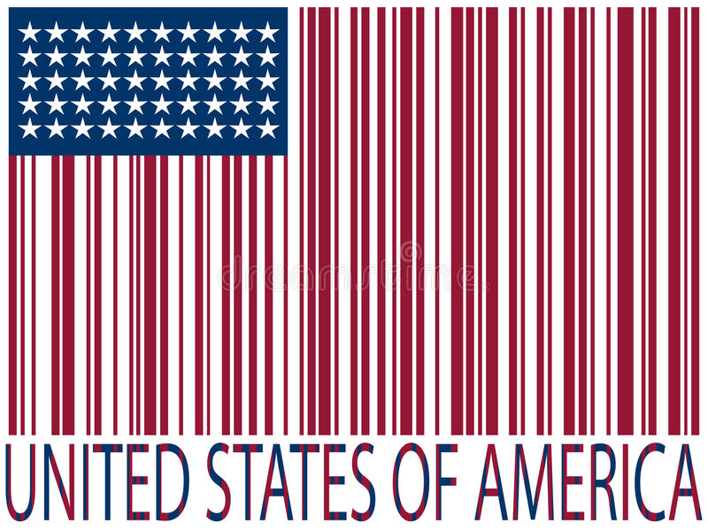 Download United States Bar Codes Flag Stock Vector - Image: 14756063