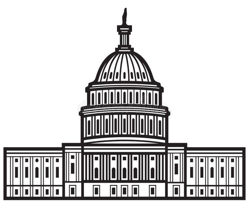 United States Capitol stock illustration