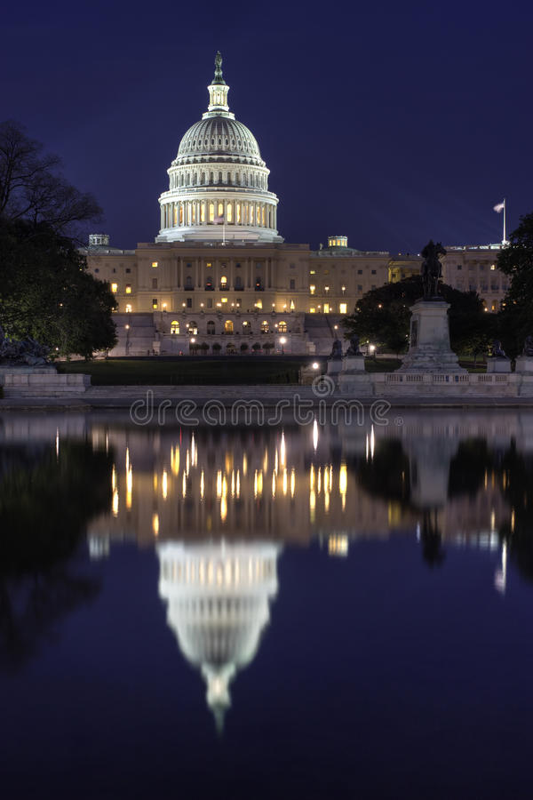 Download United States Capitol stock image. Image of capital, water - 9517817