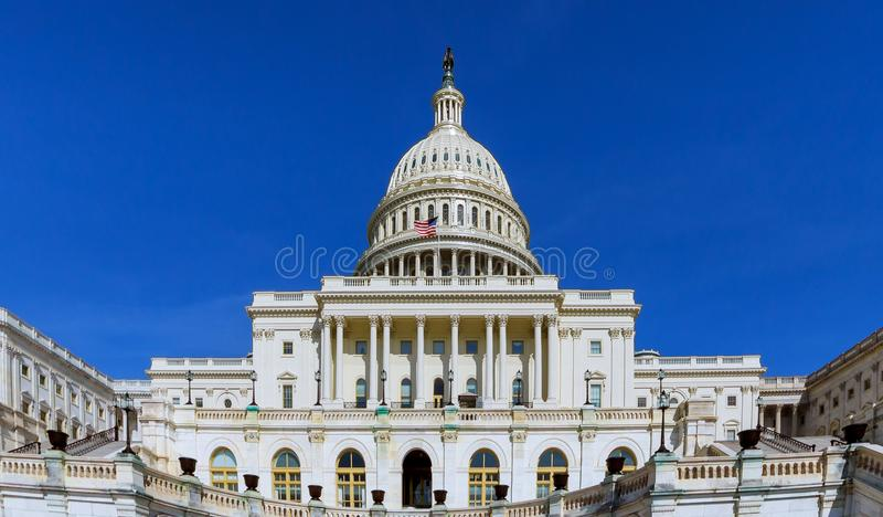 United States Capitol Building on Capitol Hill in Washington DC, USA a panoramic view royalty free stock photos