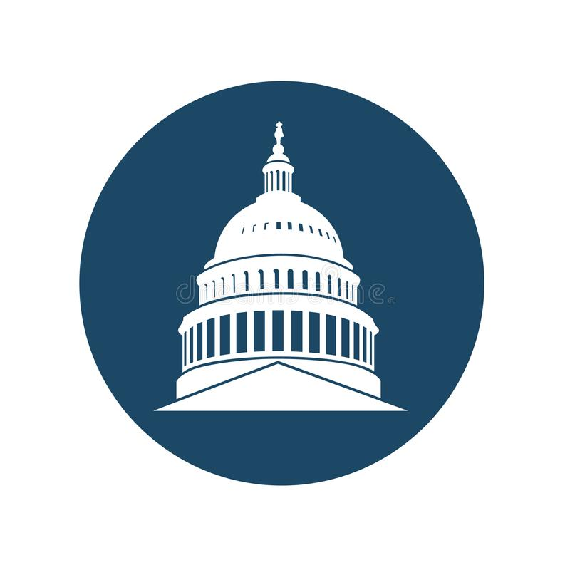 Capitol building icon royalty free illustration