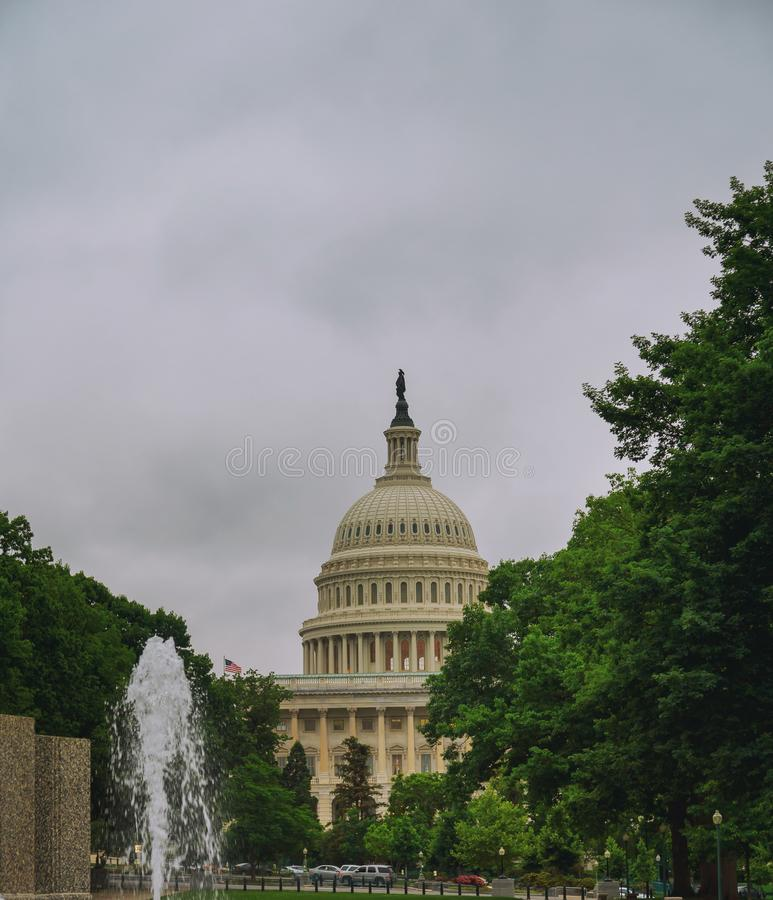 United States Capitol Building before sunset, Washington DC, USA. stock photo