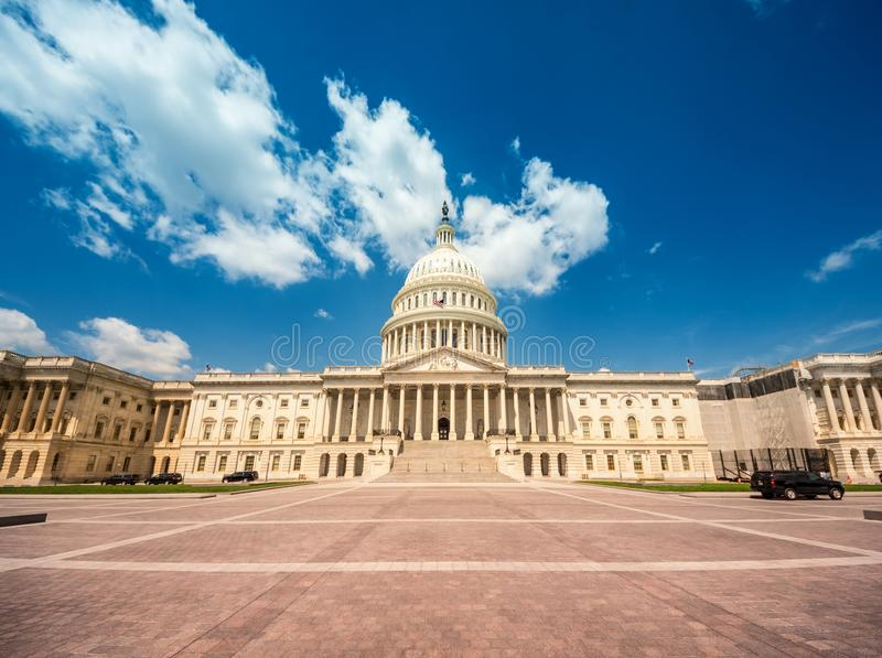 United States Capitol Building in Washington DC - East Facade of the famous US landmark. royalty free stock images