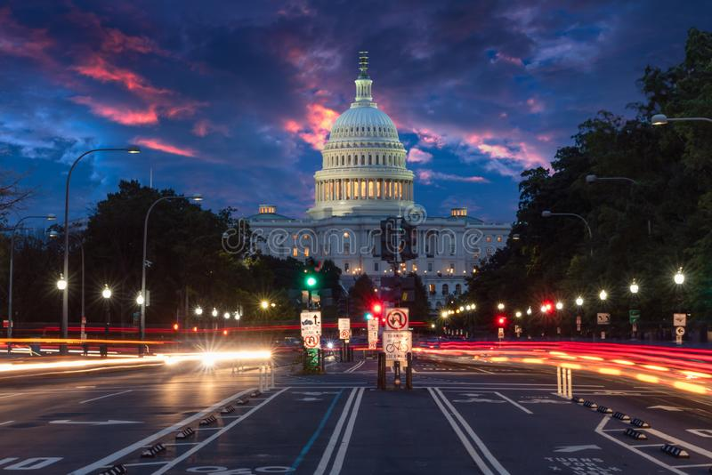 The United States Capitol building in Washington DC stock image