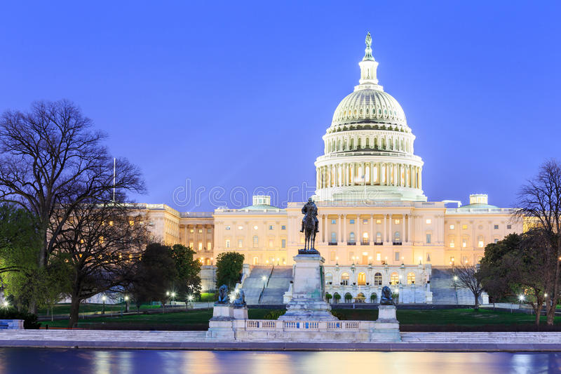 The United States Capitol building in Washington DC stock images