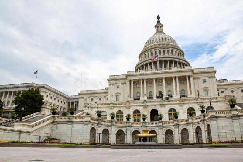 United States Capitol Building in Washington DC,USA.United States Congress. Capital government hill america dome landmark federal american blue city royalty free stock photography