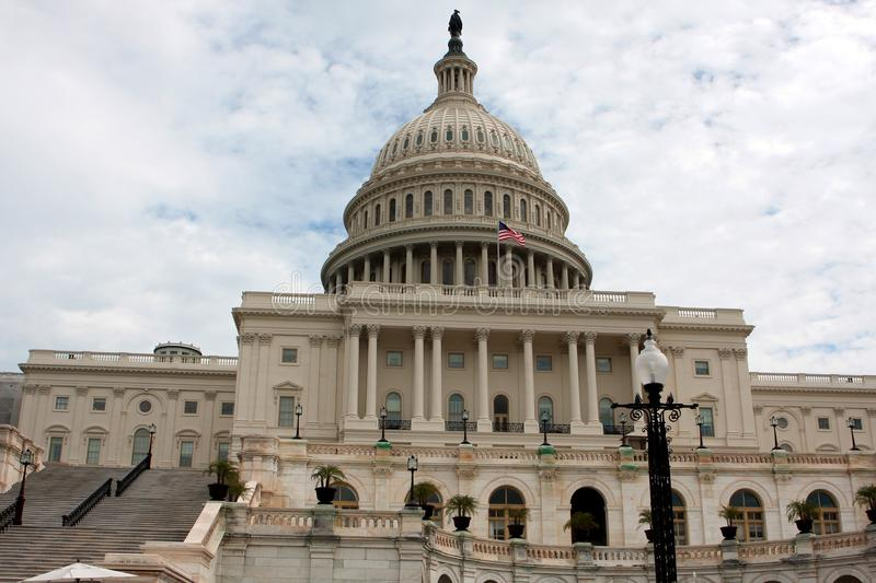 The United States Capitol, Washington DC. The United States Capitol, or Capitol Building, located on Capitol Hill in Washington, D. C royalty free stock photo