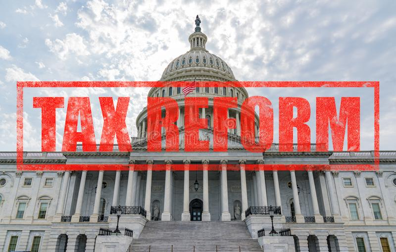 United States Capitol Tax Reform royalty free stock photos