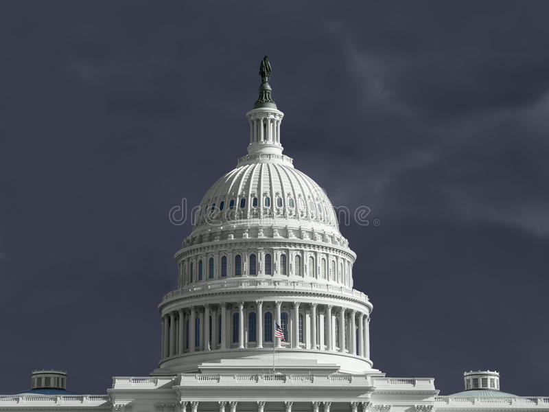 Download United States Capitol Thunderstorm Stock Photo - Image: 30391098