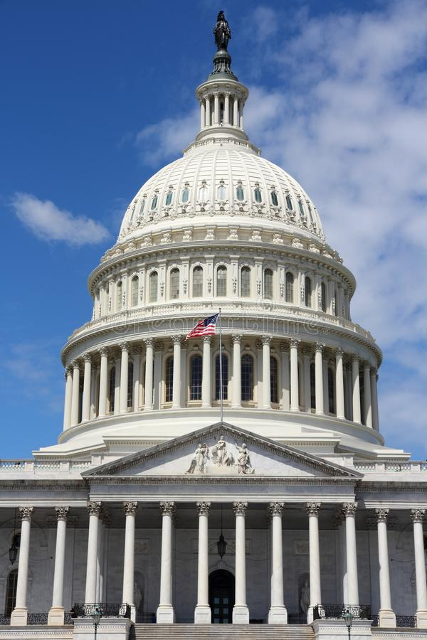 United States Capitol. US National Capitol in Washington, DC. American landmark. United States Capitol royalty free stock photo