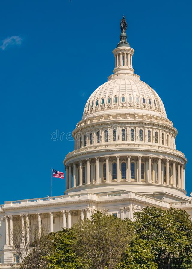The United States Capitol, Washington D.C. The United States Capitol Building on a sunny day stock images