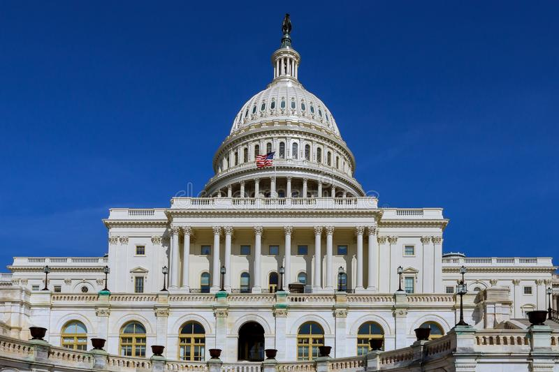 The United States Capitol in Washington, DC royalty free stock photography
