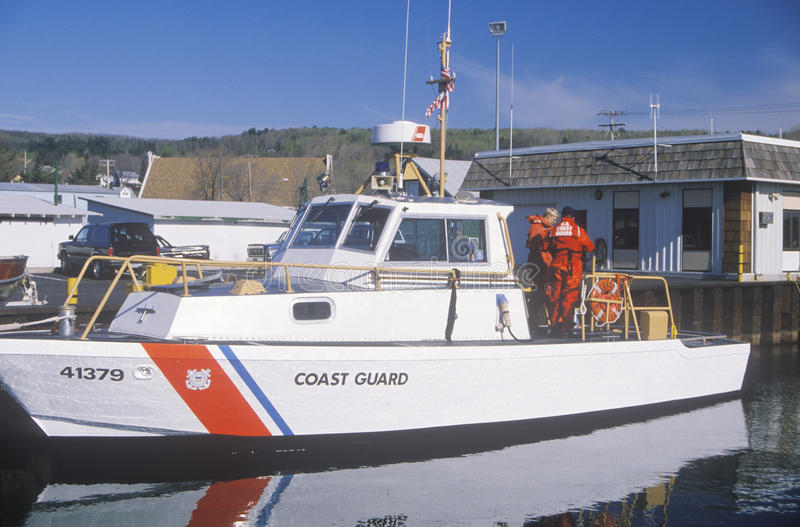 United States Coast Guard Boat. On Lake Superior, Bayfield, Wisconsin royalty free stock photography