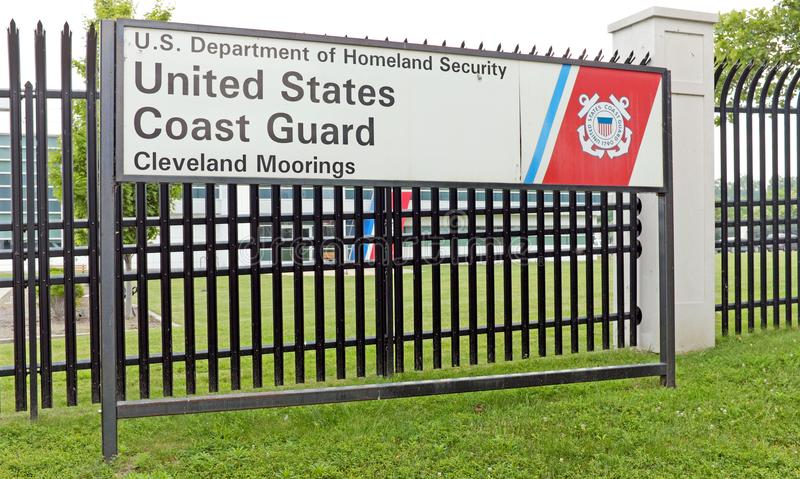United States Coast Guard station in Cleveland, Ohio site of thwarted terrorist plot. Cleveland FBI officials apprehended a man suspected of planning a major royalty free stock images
