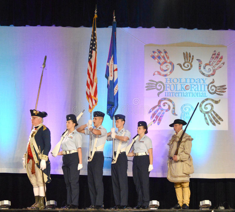 United States Color Guard stock images