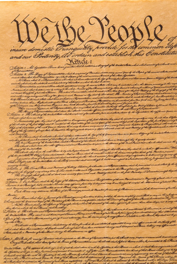 Download United States Constitution Stock Photo - Image: 2040720