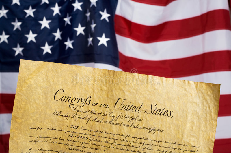 Download United States Constitution stock photo. Image of document - 4405366