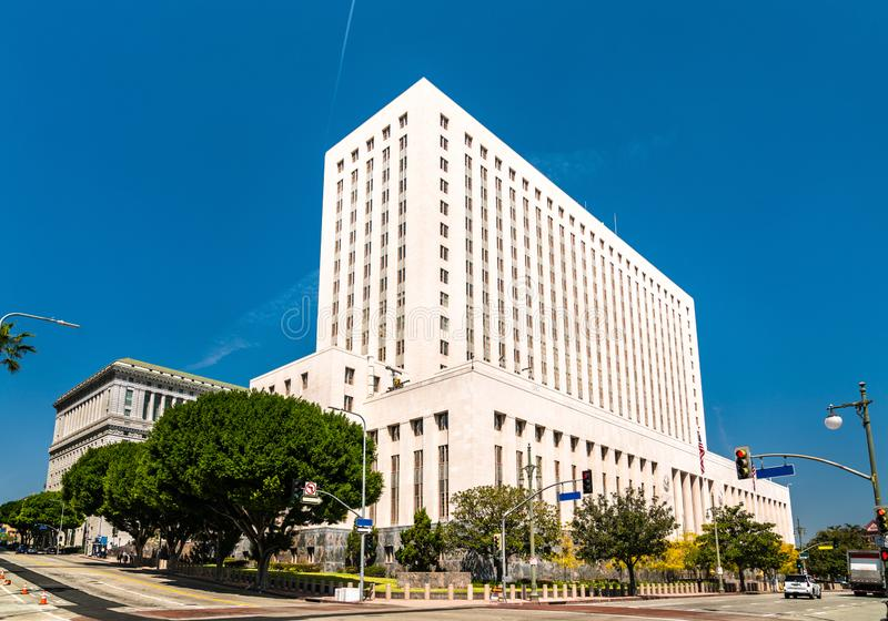 United States Court House in Los Angeles City royalty free stock photo