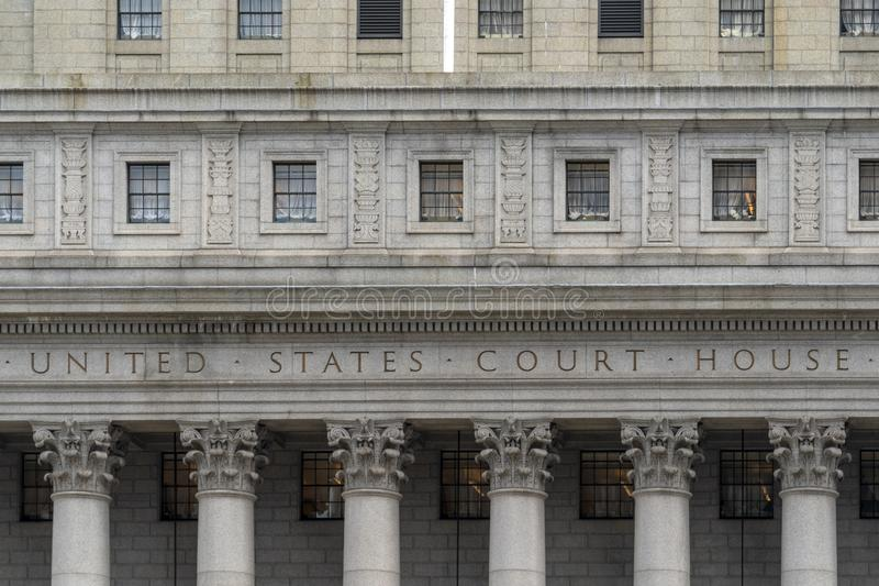 United states court house in new york city usa stock photos