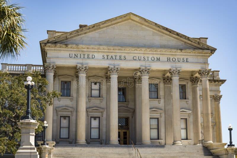 United States Custom House, Charleston, SC. Facade of the United States Custom House, Charleston, SC, USA royalty free stock image