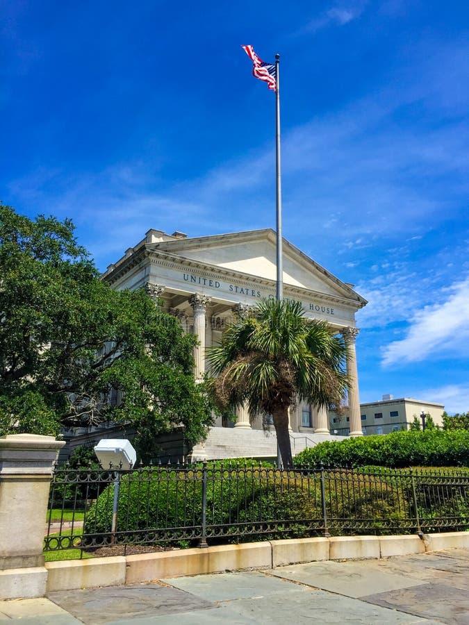 United States Custom House, Charleston, SC. United States Custom House located on East Bay St. in Charleston, SC stock photos