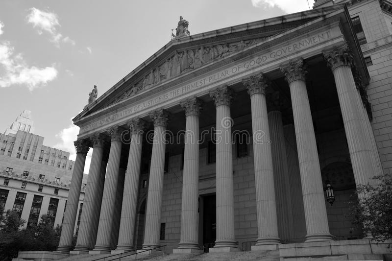 United States District Court building. Located in New York City royalty free stock image