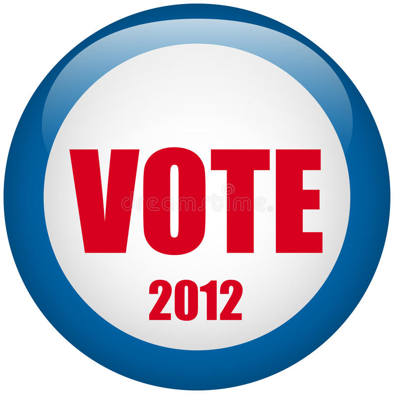 United States Election Vote Button. Royalty Free Stock Photos
