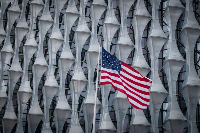 US Embassy in Nine Elms, London royalty free stock photography