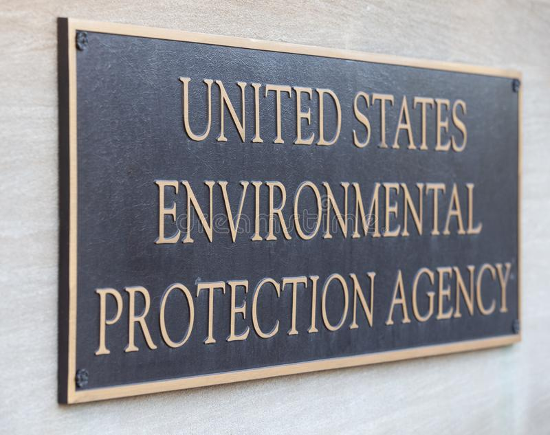 Environmental Protection Agency Headquarters Building Sign. United States Environmental Protection Agency Headquarters Building Sign Detail stock photography