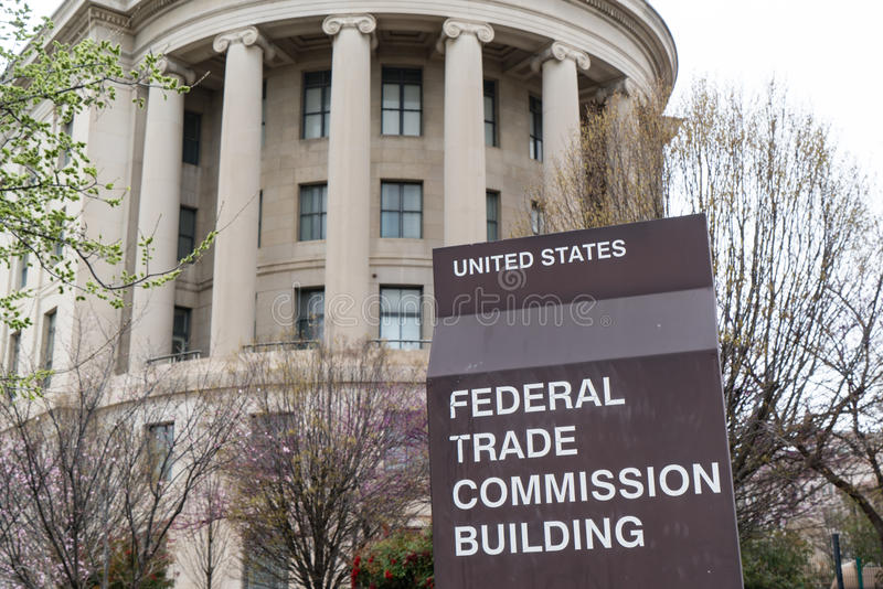 United States Federal Trade Commission. WASHINGTON, DC - MARCH 2016: United States Federal Trade Commission building in Washington, DC