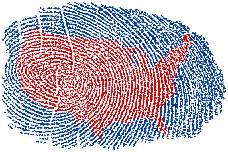 United States Fingerprint stock illustration