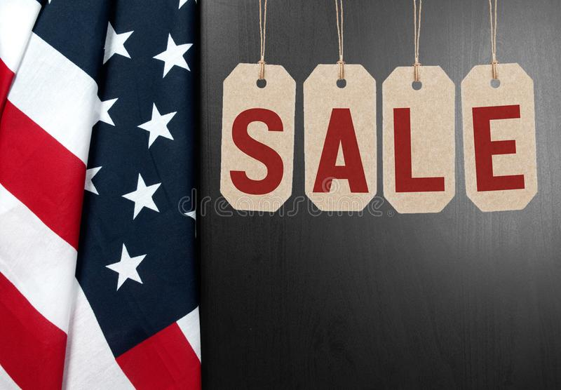 United States flag. American holiday. Sale. stock images